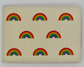 Oyster card holder, bus pass holder, travel card holder, wallet. Rainbow print wallet . Card wallet, Oyster card wallet, credit card holder