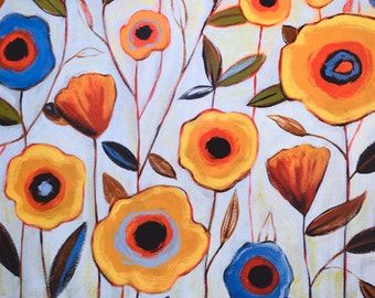 Large art print Poster ... 16 x 20 ... Bloom Society, reproduction from my original painting