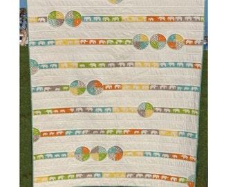 Elephant March Quilt Pattern -PDF