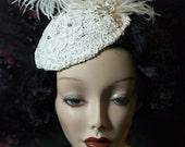 Flapper Cocktail Bridal Hat