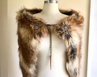 cd265d274fd1c Viking fur cloak. Fur Mantle -Renaissance