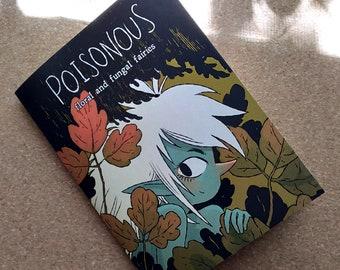 Poisonous Flower Fairies mini art book zine