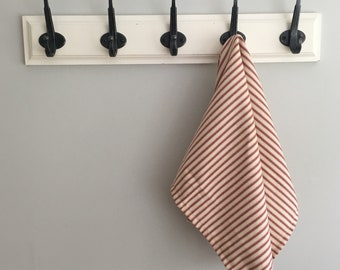 Red Ticking Stripe Hand Towel
