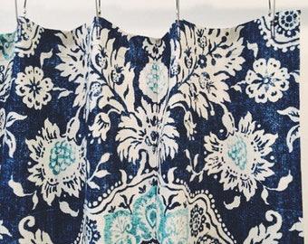 Indigo Blue and Aqua Shower Curtain