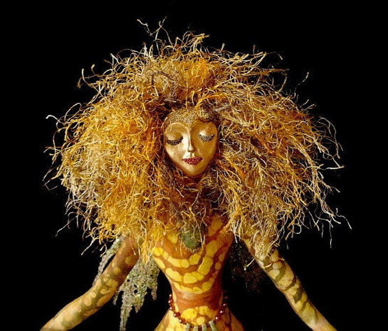 Art Doll Spirit-Lady of Unakite-OOAKSimilar Doll Made by image 0