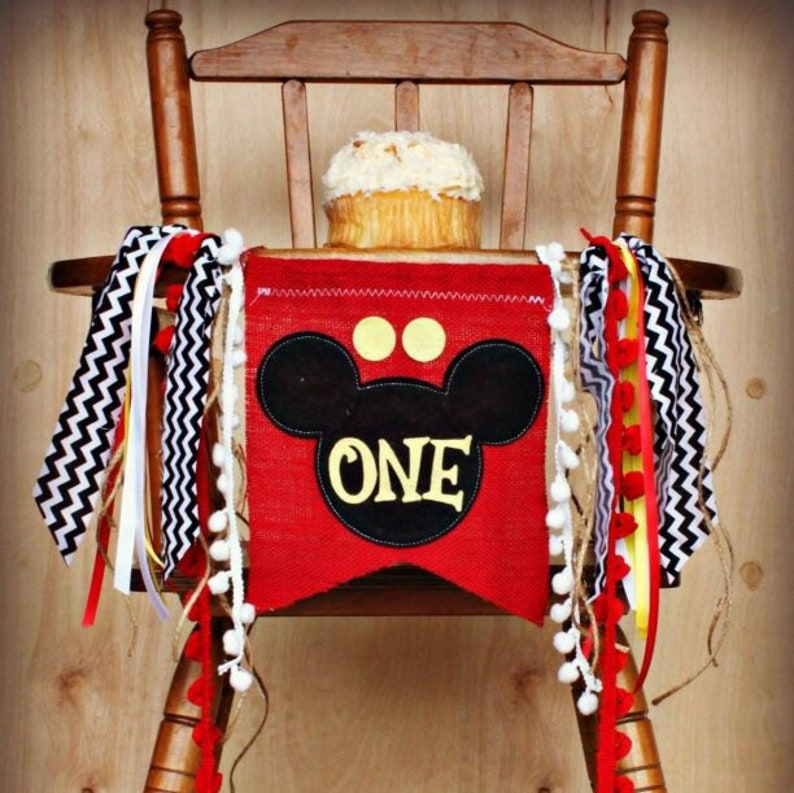 Mickey Mouse Birthday Banner Clubhouse Garland