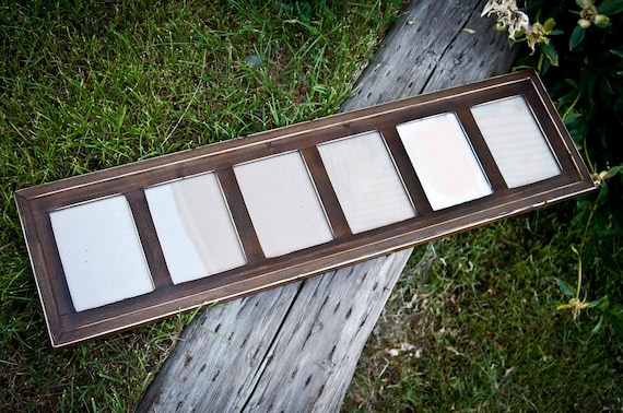Multi 6 Opening 5x7 Distressed Pine Collage Picture Frame With Etsy