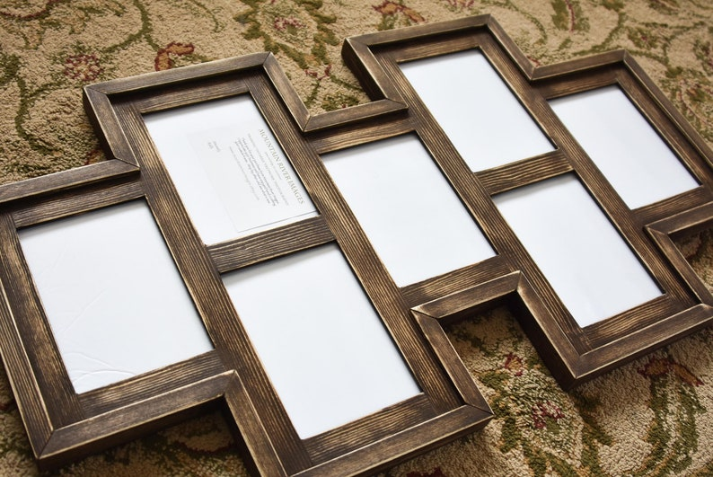 c602f33f6c91 MULTI 7 Opening 5x7 distressed pine collage picture frame with