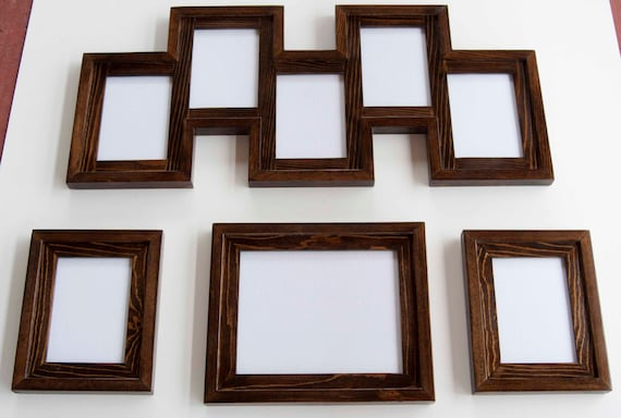 4 Piece Frame Collection 1 8x10 2 5x7s And 1 5 Opening Etsy