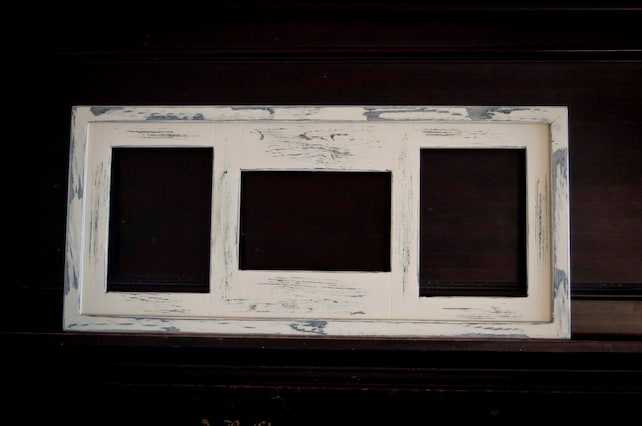 Collage Picture Frame Multi 3 Opening 5x7 Distressed Collage Etsy