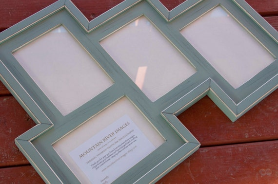 Multi 4 Opening 5x7 Distressed Pine Collage Frame Holds 3 Etsy