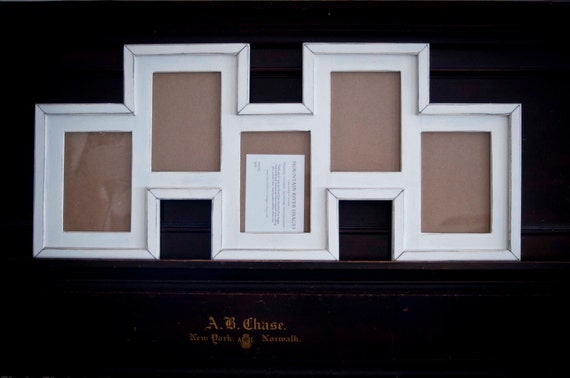Collage Picture Frame - MULTI 5 Opening Staggered 5x7 distressed ...