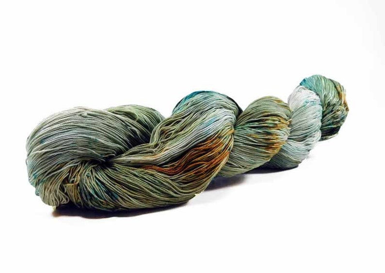 150 Yards Hand Dyed Cotton Crochet Thread Size 10 3 Ply Pale image 0