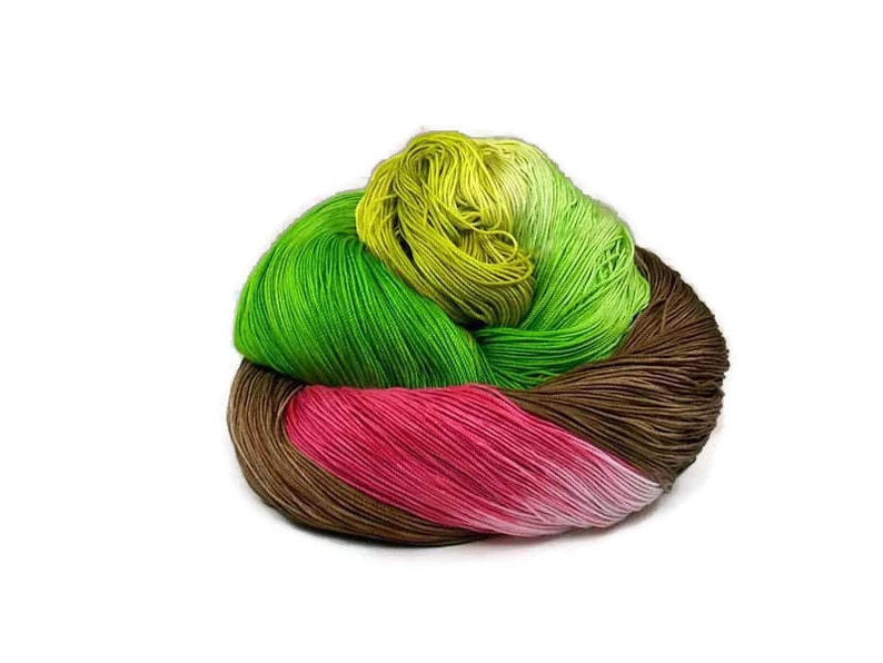 300 Yards Hand Dyed Cotton Crochet Thread Size 10 3 Ply image 0