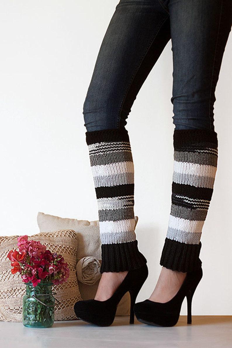 Knit Leg Warmers Knit Boot Socks Adult Legwarmers Womens image 0