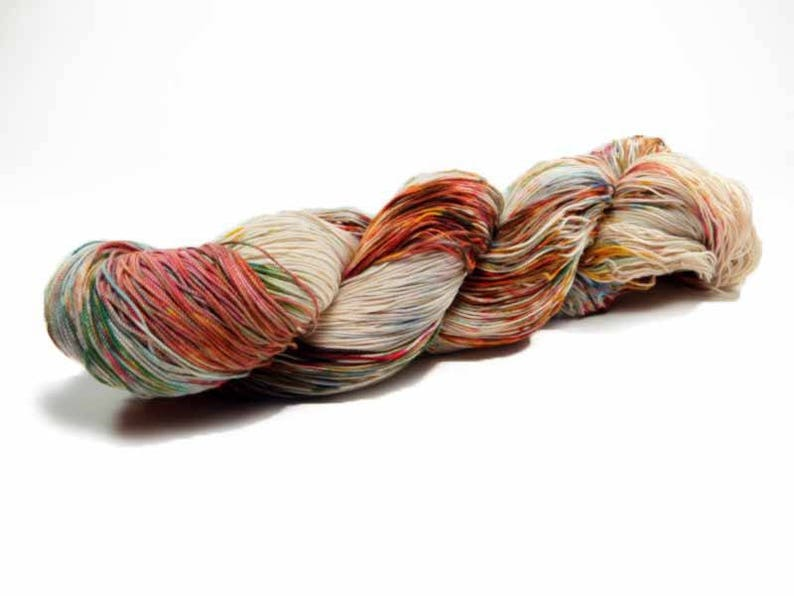 150 Yards Hand Dyed Crochet Thread Size 10 Cotton Thread 3 Ply image 0