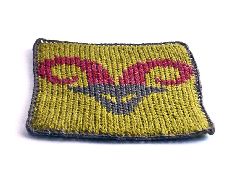 On Sale Marked Down 20% Knit and Crochet Coaster Personalized image 0