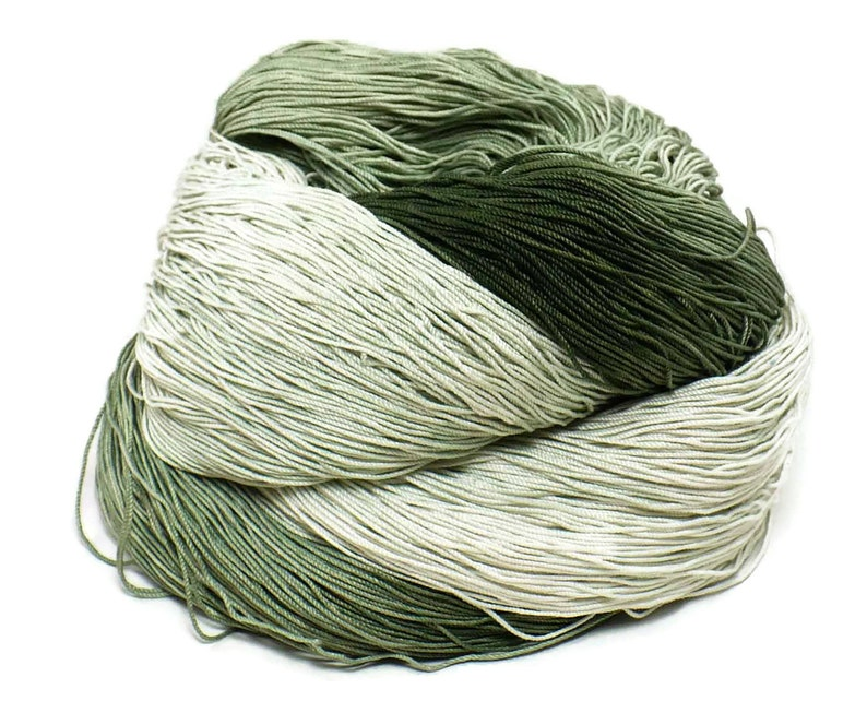 300 Yards Hand Dyed Cotton Crochet Thread Size 10 3 Ply 6 image 0
