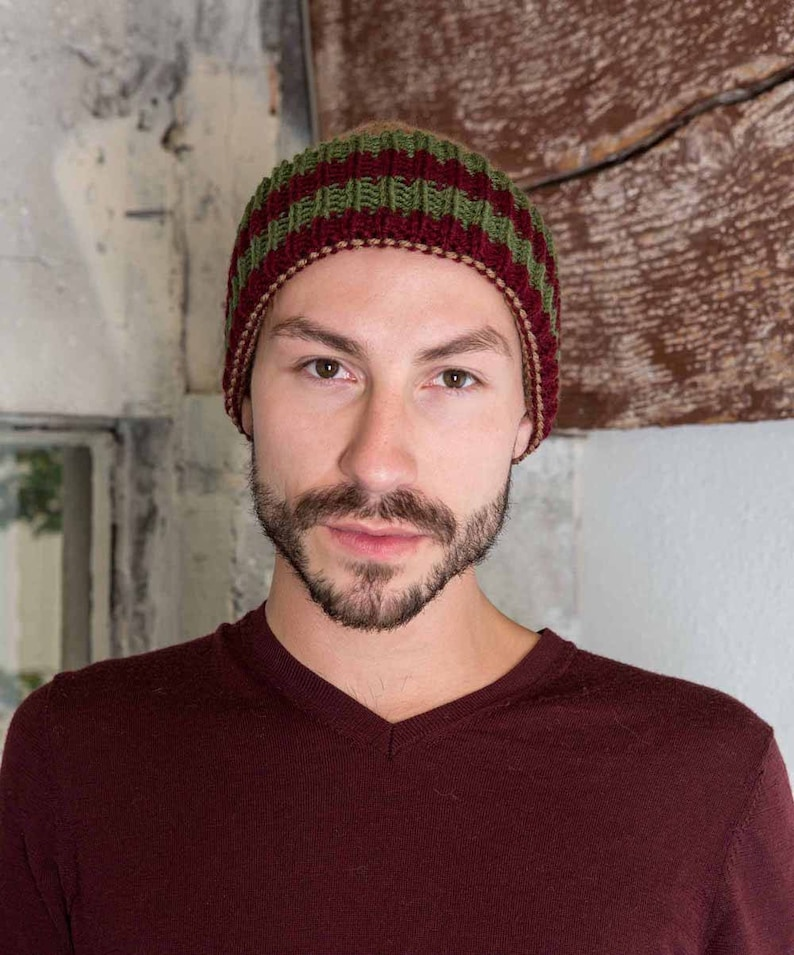 67b15a4660306 Mens Knit Beanie Brown Knit Accessories Maroon Mens Knit Skull