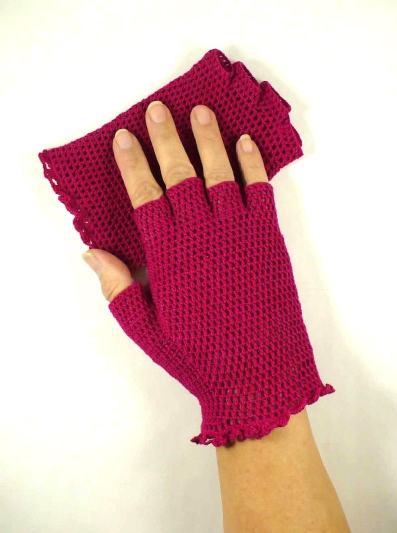 Crochet Gloves Retro Vintage Style Steampunk Lace Fishnet image 0