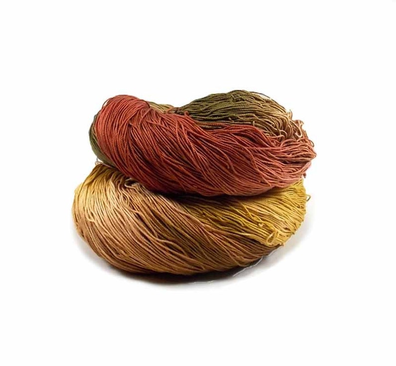 300 Yards Hand Dyed Cotton Crochet Thread Size 10 3 Ply Golden image 0