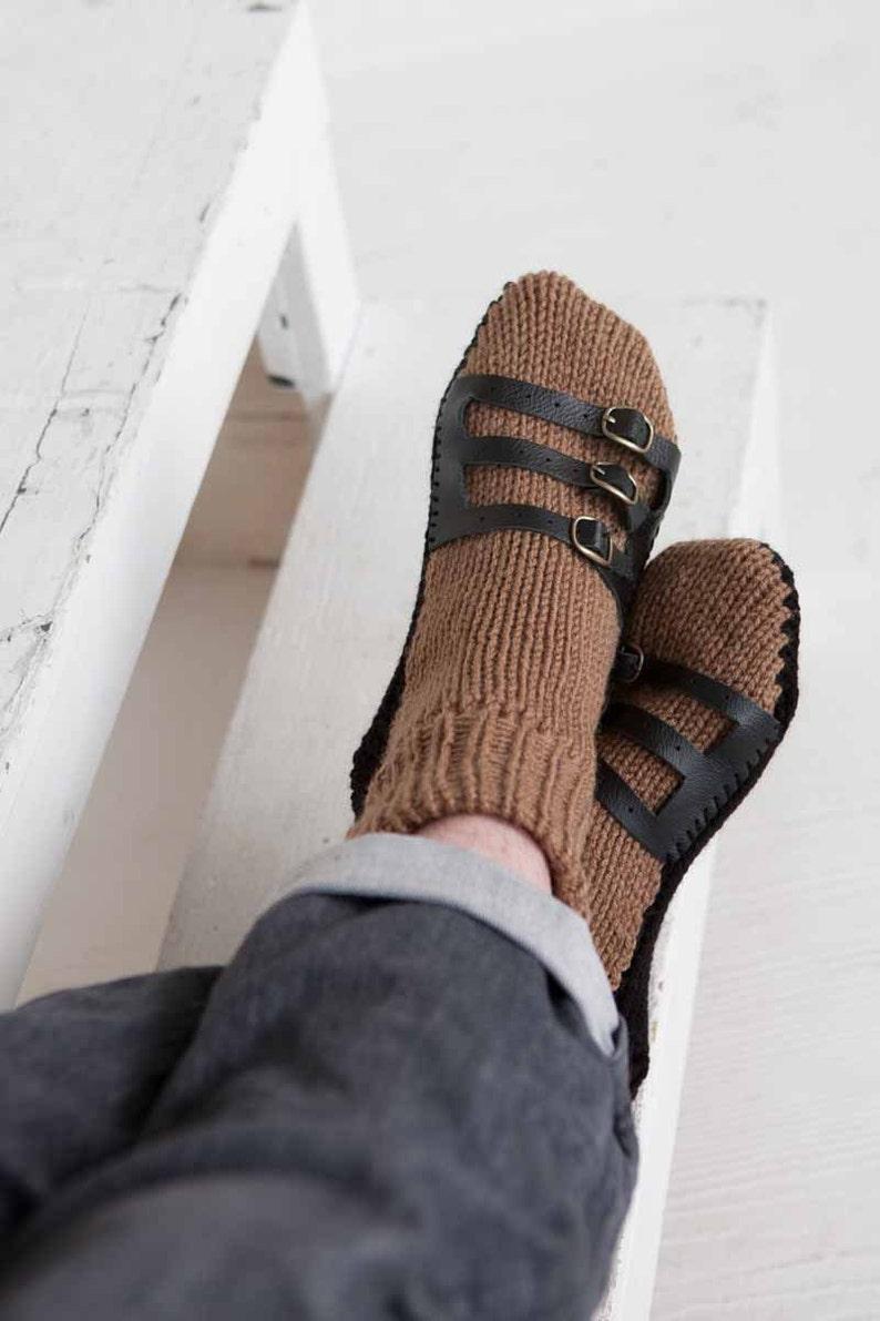fdc7dbca90d Chaussons pour homme chaussettes Mens tricot chaussons sandale