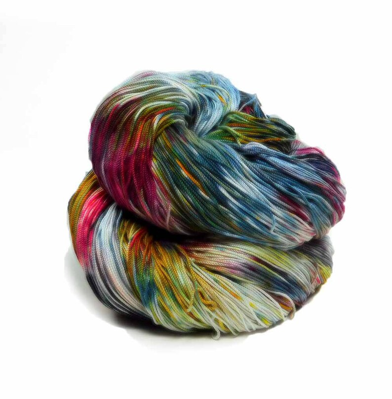 300 Yards Hand Dyed Cotton Crochet Thread Size 10 3 Ply Black image 0