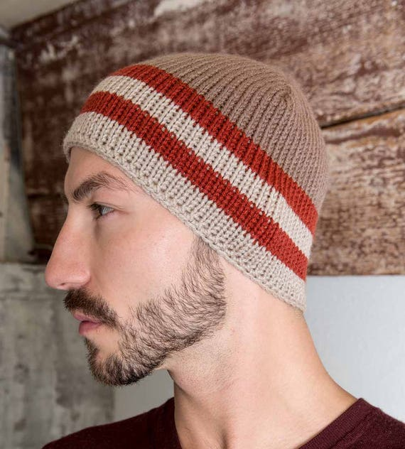 Mens Knit Beanie Redwood Knit Skull Cap Mens Knit Hat Mens  36d38da6aeb
