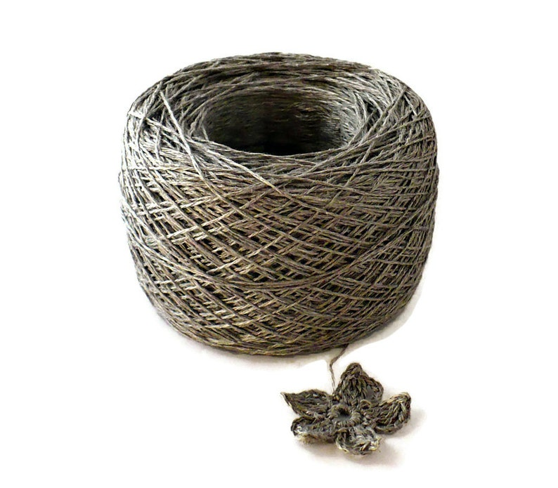 Crochet Thread 3 Ply Linen Thread Zinc Linen Yarn Specialty image 0