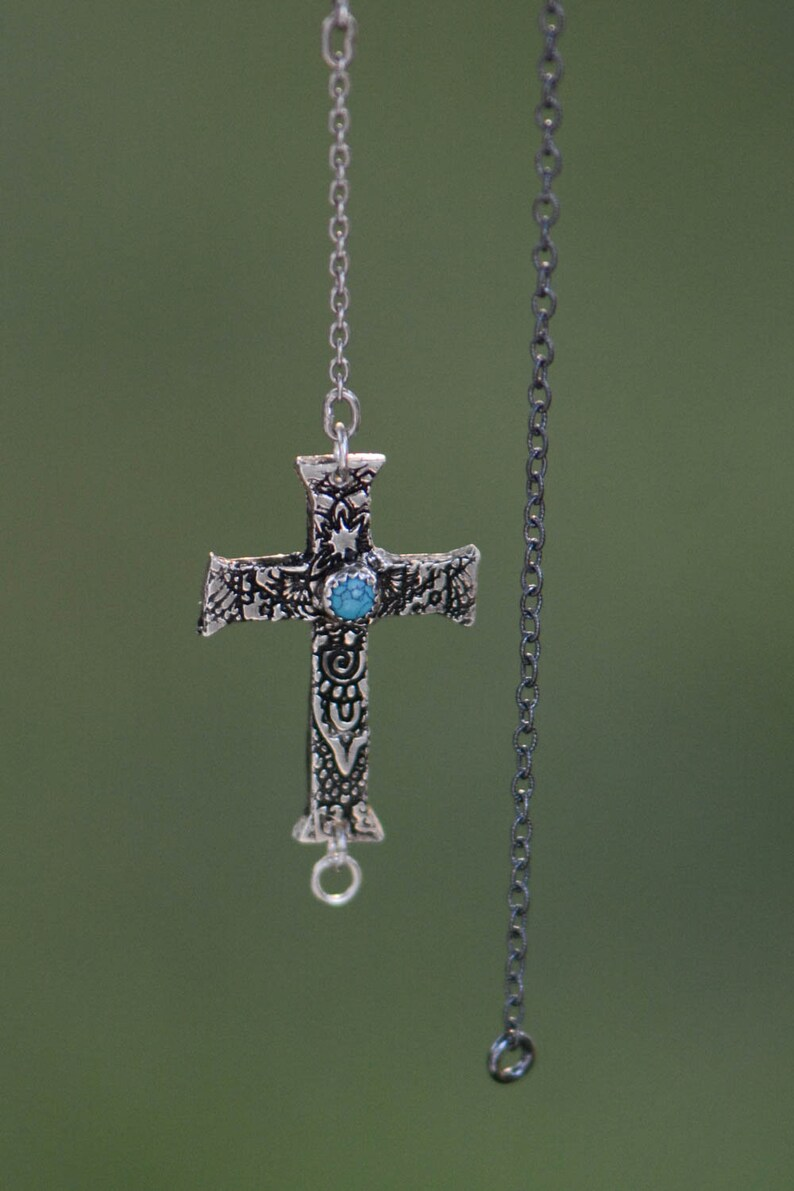 Sterling Silver Cross Anklet 2 image 0