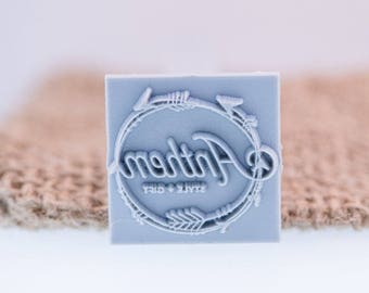 """25x25mm / 1"""" Custom Signature Stamp For PMC, Art Clay, Metal Clays & Polymer"""