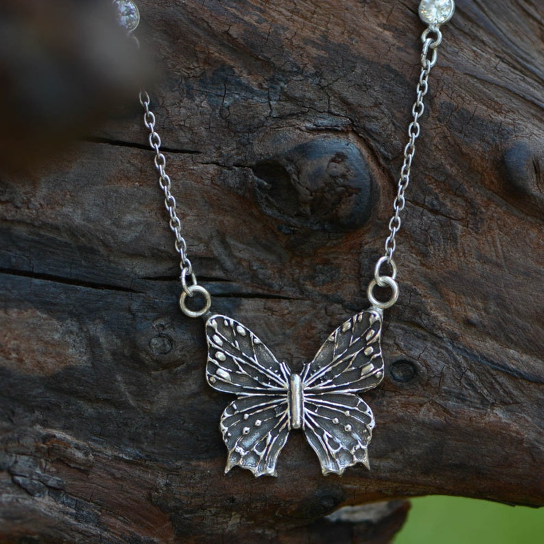 Sterling Silver Butterfly Necklace 1 image 0