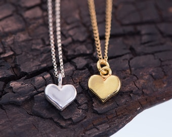 Petit Heart Necklace Silver or Gold