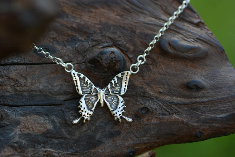 Sterling Silver Butterfly Necklace 2 image 0