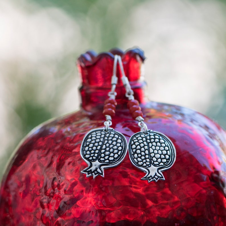 Pomegranate Earrings image 0