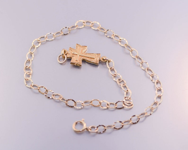 Sterling Silver Cross Anklet 3 image 0