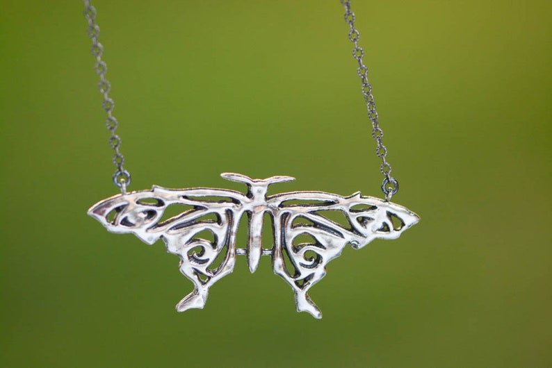 Mamma Mia Inspired  Sterling Silver Butterfly Necklace image 0