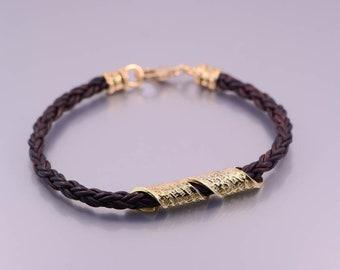 Travaler's Prayer  / TFILAT Haderech Bracelet 24K gold dipped