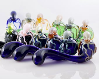 Octopus Glass Sherlock Pipe in Your Choice of Color