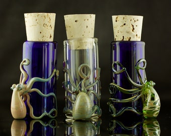 Octopus Glass Jar in Your Choice of Color