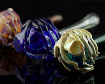 Facehugger Glass Sherlock Pipe in Your Choice of Color