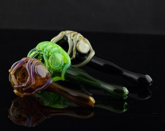 Facehugger Glass Spoon Pipe in Your Choice of Color