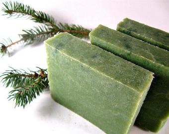 Woodland Pine Soap Bar- Handmade Soap - Hot Process Soap