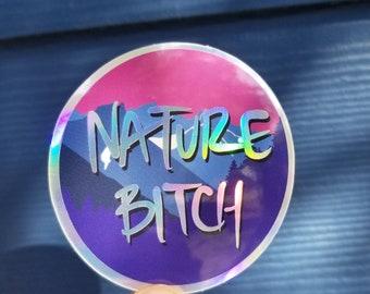 Nature Bitch Great Smoky Mountains Vinyl Holographic Waterproof Weatherproof Sticker