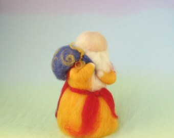 Father Christmas Wool Doll Needle Felted