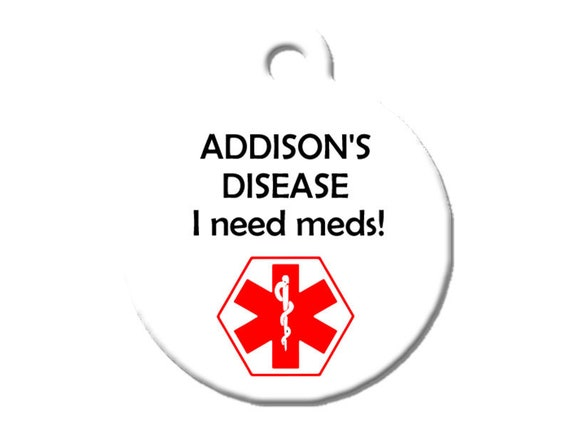 Medical Alert Dog Cat Pet ID Tag , White Im Diabetic and Blind Large 1.25 Diameter Double Sided