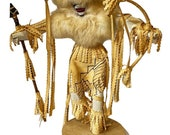Vintage Kachina Buffalo Warrior Doll