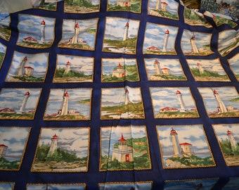 Beacon Navy Fabric by timeless Treasures