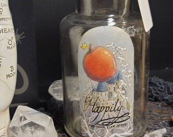 Happily: Find Your Ever After recycle up cycle Halloween Academy Apothecary Bottle Fairytale Snow White Sleeping Beauty