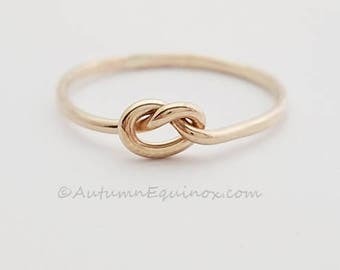 Gold Knot Ring Chunky Love Knot 14k Gold Filled BFF Ring Bridesmaid Ring Promise Ring